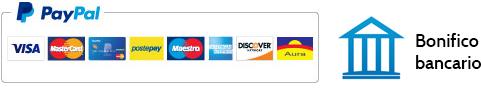 PayPal, carta di credito e bonifico bancario